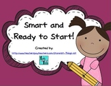Smart and Ready to Start!  1st Grade Beginning Sight Words and Letter Sounds