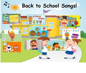 Smart board School Song Choice Board