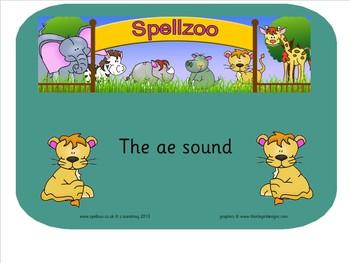 Smart notebook Spelling - long 'a' vowel sound, same sound different spelling