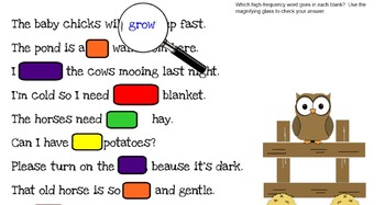 SmartBoard Activities for Journeys 2nd Grade Unit 3 Click Clack Moo