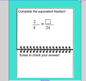 SmartBoard Activity: Improper Fractions and Mixed Numbers