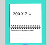 SmartBoard Activity: Multiplication by 1 Digit and Multiplying with Zeros