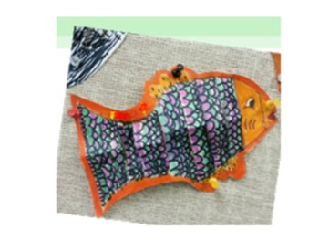 Art SmartBoard - salmon/under the sea theme