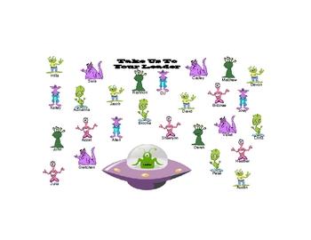 SmartBoard  Attendance- Aliens