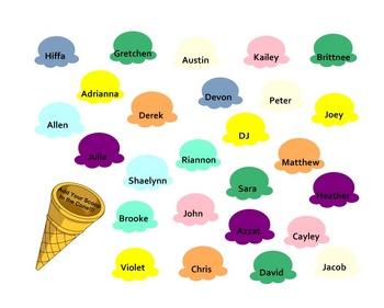 SmartBoard  Attendance- Ice Cream Cones