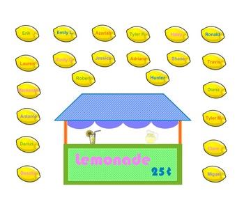 SmartBoard  Attendance- Lemonade Stand