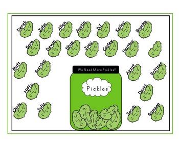 SmartBoard  Attendance- Pickles