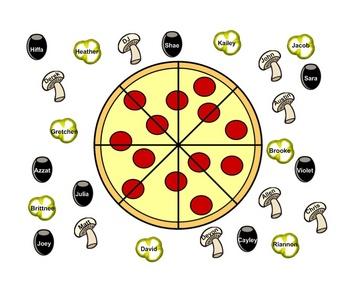 SmartBoard  Attendance- Pizza Theme