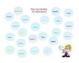 SmartBoard  Attendance- Popping Bubbles