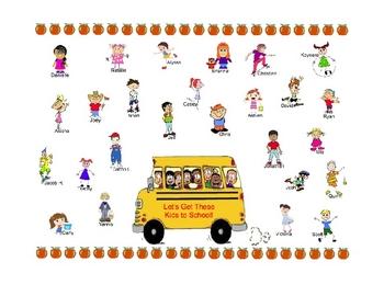 SmartBoard Attendance - School Bus Theme