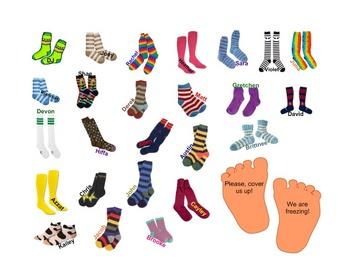SmartBoard  Attendance- Socks!