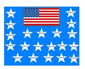 SmartBoard  Attendance- Stars and Stripes