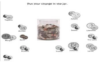 SmartBoard Attendance file coins-A Chair for my Mother money jar