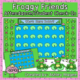 SmartBoard Attendance/Student Check-In Frog Theme