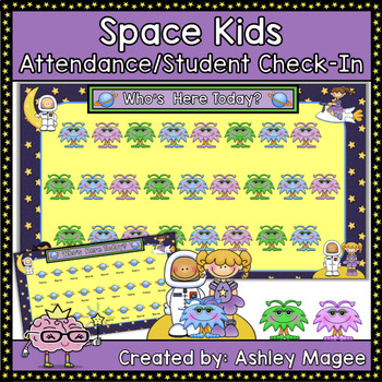 Space Kids Attendance/Student Check-In Space Theme (PowerPoint)