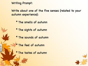 SmartBoard- Autumn and the 5 Senses
