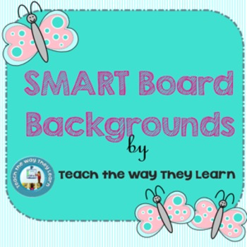 READY TO USE!  BLANK Smart Board Backgrounds for any subject!