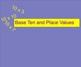 SmartBoard Base Ten Blocks/ Place Value Starter Activity