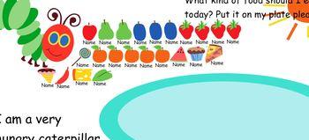 SmartBoard Hungry Caterpillar Attendance Activity