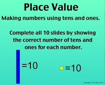 SmartBoard Center: Make the Number, Place Value with Tens and Ones