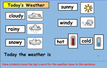 SmartBoard  Daily Calendar for First Grade for the Year (Interactive)