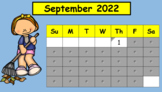 SmartBoard  Daily Calendar for First Grade for the Year (I