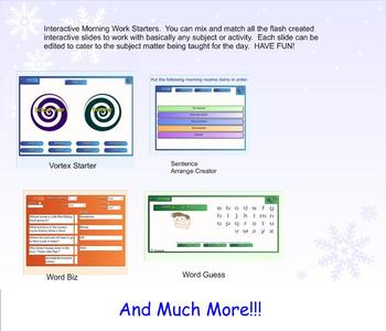 SmartBoard Interactive Morning Activity Starters