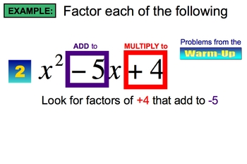 SmartBoard Lesson on Factoring Polynomials