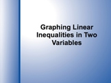 SmartBoard Lesson on Graphing Linear Inequalities
