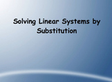 SmartBoard Lesson on Solving a System of Equations by Substitution
