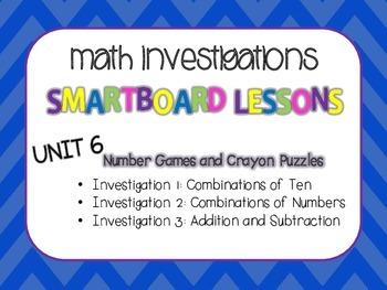 SmartBoard Lessons Unit 6 Math Investigations