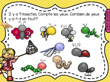SmartBoard Math Problem of the Day: Spring, Earth Day - French Edition