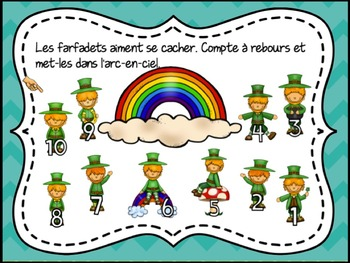 St. Patrick's Day & Spring SmartBoard Math Problem of the Day: French