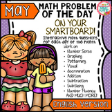 SmartBoard Math Problem of the Day: Spring, Summer, Mother's Day -  May English