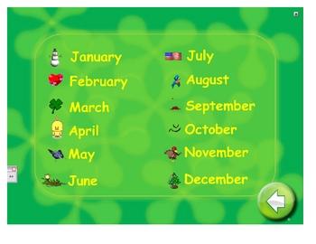 SmartBoard Morning Calendar