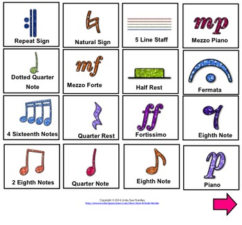 SmartBoard Music Game