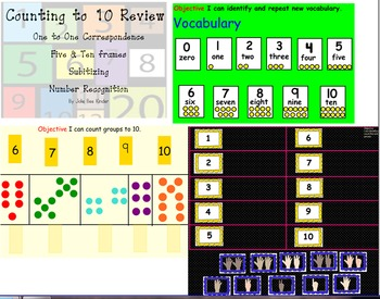 SmartBoard Numbers 1 - 10 Review