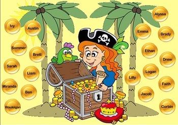 SmartBoard Pirate Themed Attendance Tracker