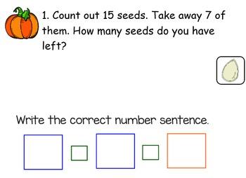 Pumpkin Math SmartBoard