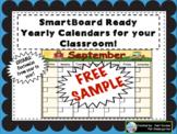 SmartBoard Ready September Calendar FREE SAMPLE!