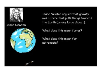 Science SmartBoard - Space - Gravity & the Moon