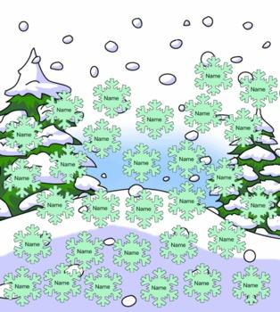 SmartBoard Snowflake Attendance