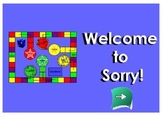 SmartBoard Sorry! Game for Cells and Kingdoms 5th Grade Science Unit