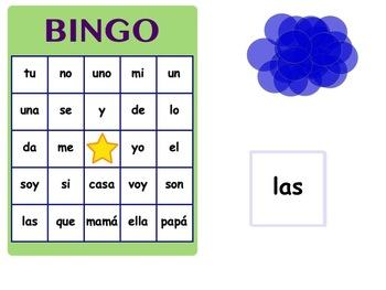 SmartBoard Spanish Model - HFW (High Frequency Word) BINGO