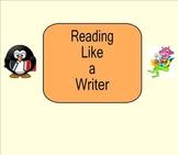 SmartBoard: Writing: Reading Like a Writer: Smartboard
