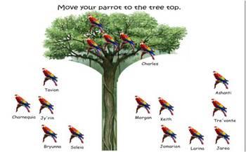 SmartBoard attendance file Rain Forest parrot theme