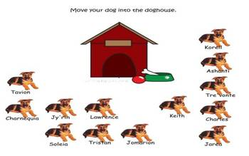 SmartBoard attendance file dog theme dog houses