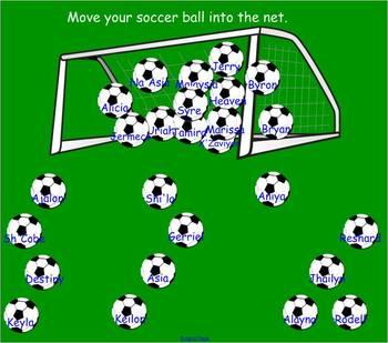SmartBoard attendance file soccer themed