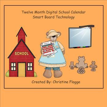 SmartBoard digital 12 month school calendar