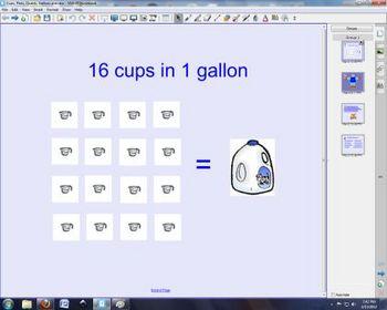 SmartBoard lesson on Capacity (U.S.)